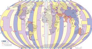 Moedas mundiais e fuso horário