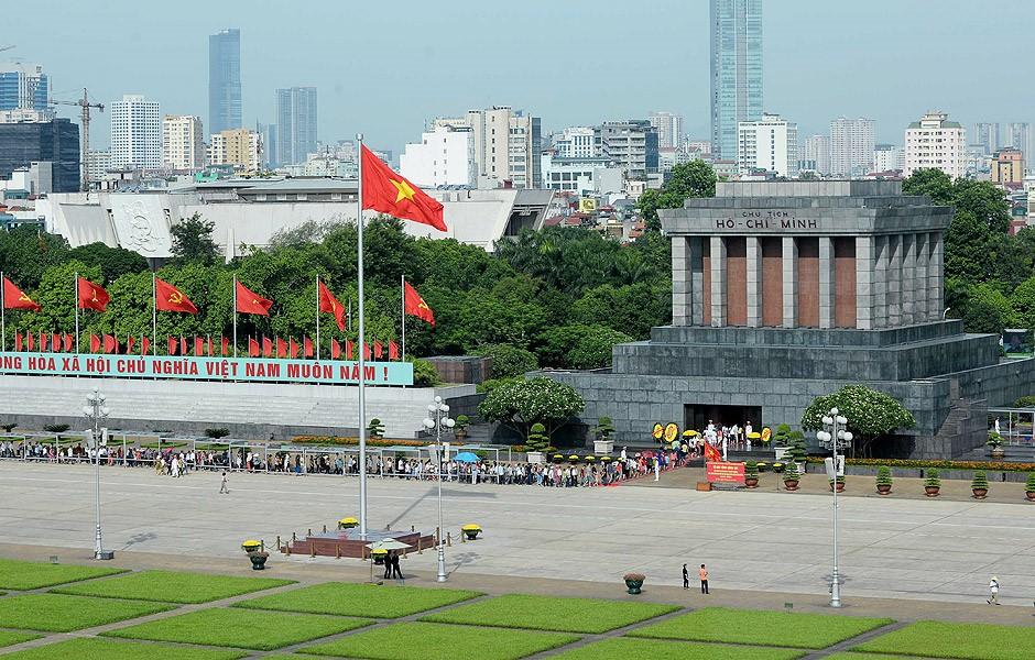 Mausoléu de Ho chi Minh, em Hanói.