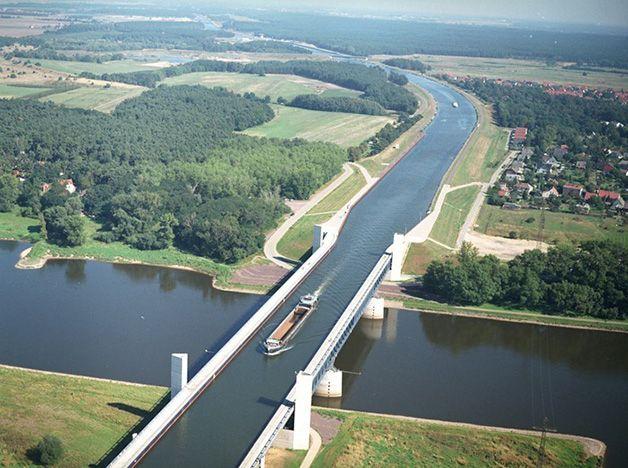 Ponte aquífera de Magdeburgo, Alemanha
