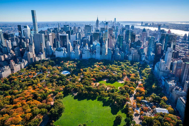 Vista aérea do Central Park, Estados Unidos