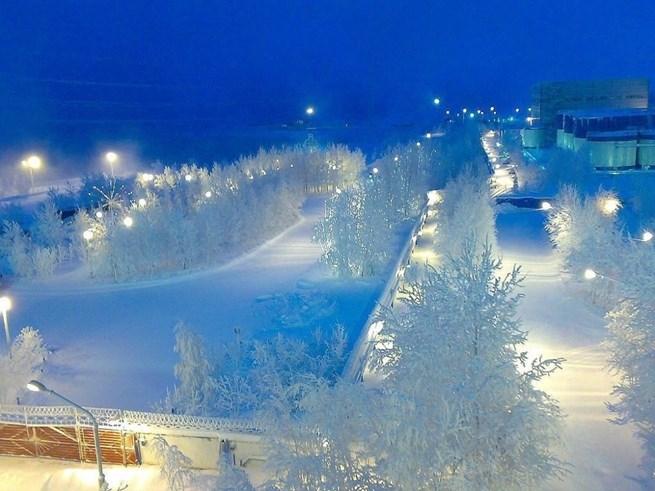 Inverno de Surgut, Rússia