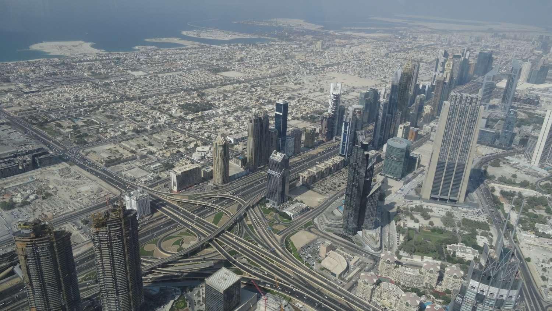 Vista de dentro do Burj Khalifa