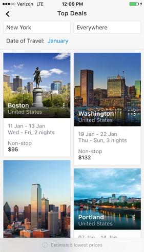 Promoções em sites de viagem