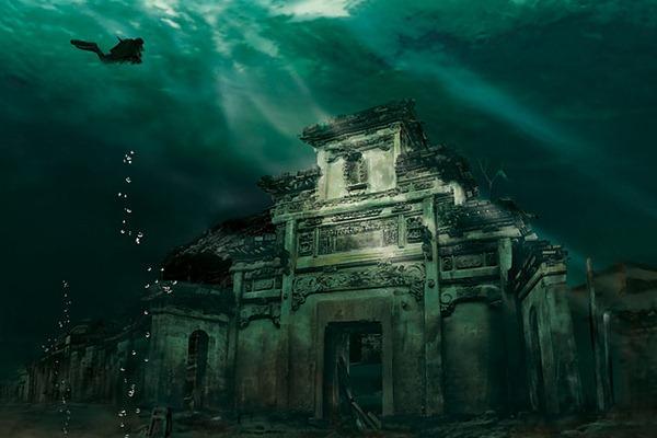 Cidade submersa, Shicheng, China