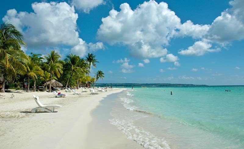 Jamaica, em Negril: Seven Mile Beach (Praia das Sete Milhas)